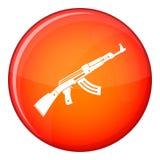 Submachine gun icon, flat style Stock Photo