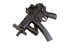 Submachine gun MP5 isolated Stock Images