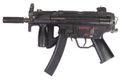 Submachine gun MP5 isolated Royalty Free Stock Images