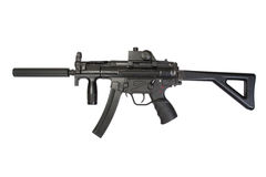 Submachine gun MP5 with silencer Stock Image