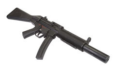 Submachine gun MP5 with silencer Royalty Free Stock Images