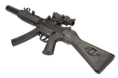 Submachine gun MP5 with silencer. Isolated Stock Photography