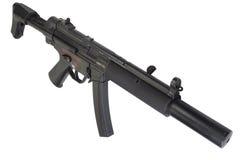 Submachine gun MP5 with silencer Stock Image