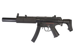 Submachine gun MP5 with silencer Stock Images