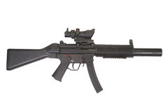 Submachine gun MP5 with silencer isolated Royalty Free Stock Photography