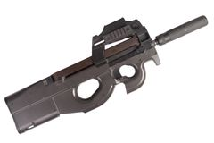 Submachine gun P90  - personal defense weapon Royalty Free Stock Photos