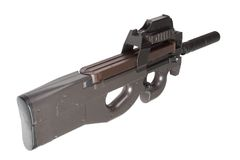 Submachine gun P90  - personal defense weapon Royalty Free Stock Photography