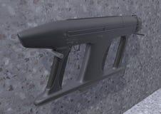 Submachine gun AM-2 picture 2 vector illustration