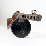 Submachine gun ppsh-41 on a light background. Royalty Free Stock Images