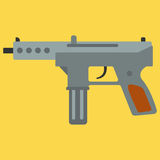 Submachine gun security and military weapon Royalty Free Stock Photos