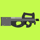 Submachine gun security and military weapon Royalty Free Stock Images