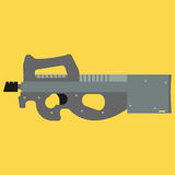 Submachine gun security and military weapon Stock Photo