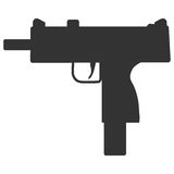 Submachine gun security and military weapon Royalty Free Stock Photography