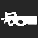 Submachine gun security and military weapon Royalty Free Stock Photo