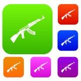 Submachine gun set collection Royalty Free Stock Photography