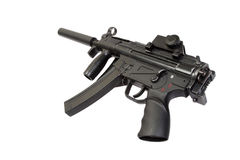 Submachine gun with silencer Royalty Free Stock Images