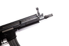 Submachine gun. With silencer isolated Stock Photo