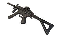 Submachine gun with silencer Royalty Free Stock Photos