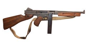 Submachine Thompson πυροβόλο όπλο Στοκ Εικόνες