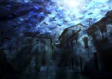 Submarina de Ciudad Imágenes de archivo libres de regalías