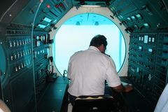 Submarine. Interior stock images