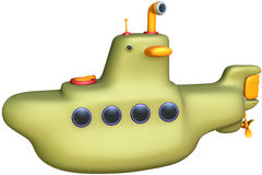 Submarine. Toon submarine with isolation on a white background Stock Image