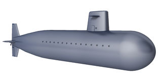 Submarine. On a white background Royalty Free Stock Photos