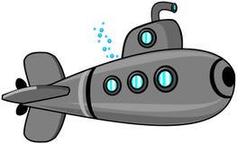 Submarine. This illustration depicts a cartoon submarine Royalty Free Stock Image