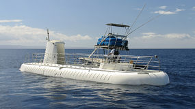 Submarine. Tourist submarine on the surface near Lahaina, Maui, Hawaii, USA royalty free stock image