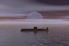 Submarine. Sailing stock illustration