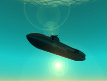 Submarine stock illustration