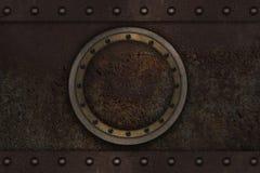 Submarine armoured porthole Stock Photo