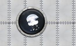 Submarine armoured porthole Royalty Free Stock Photo
