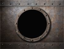 Submarine Armoured Porthole Or Window Metal Stock Photo