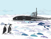 Submarine Ascent Royalty Free Stock Photo