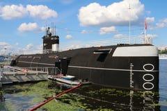 Submarine. B-396 Novosibirsk Komsomolets - Soviet diesel-electric submarine Stock Photos