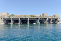 Submarine base in Lorient royalty free stock images