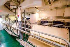 Submarine camp beds Stock Photo