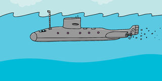 Submarine Cartoon Royalty Free Stock Images