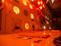 Submarine commando red light Stock Photo
