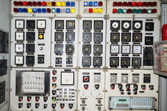 Submarine control panel Royalty Free Stock Photography