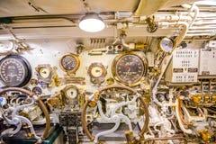 Submarine control room Stock Photo
