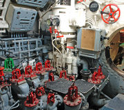 Submarine Controls Room. The controls room of a German World War II submarine docked at the German Baltic Sea resort of Laboe Royalty Free Stock Images