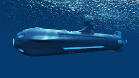 Submarine. 3D CG rendering of a submarine royalty free stock photo