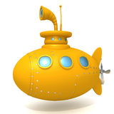 Submarine 3d illustration. Over white background Royalty Free Stock Images