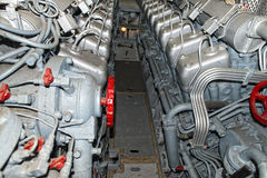 Submarine diesel engines Royalty Free Stock Photos