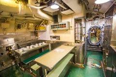 Submarine dining room Royalty Free Stock Photo
