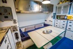 Submarine dinning room Royalty Free Stock Photography