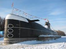 Submarine in dock Royalty Free Stock Image