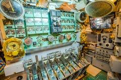 Submarine electric engine levers Royalty Free Stock Image